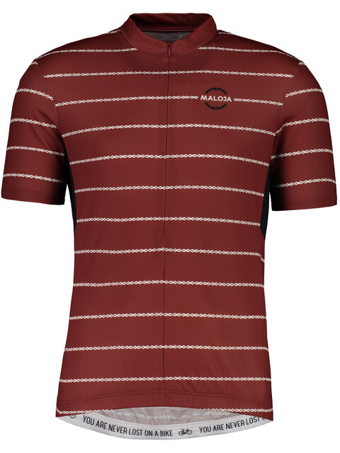 Maloja PushbikersM.Basic Short Sleeve Bike Jersey Men maroon